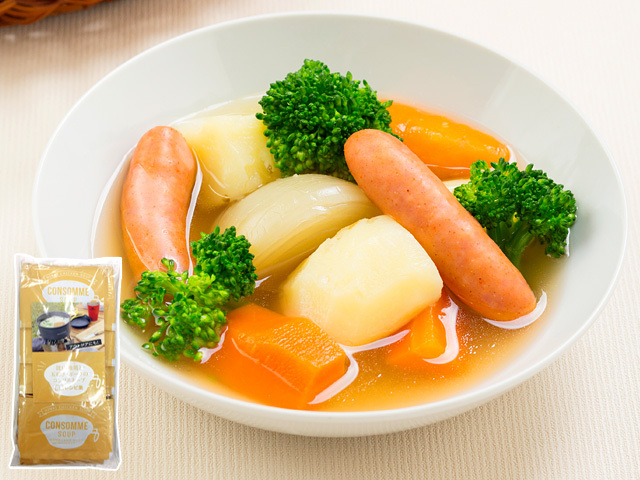 まとめ買いでお得!比内地鶏と玉ねぎ・ポークのコンソメスープ(14g×50袋入)