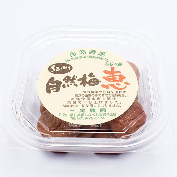 自然梅 恵 和歌山県 三尾農園 自然栽培梅使用 1000円以下
