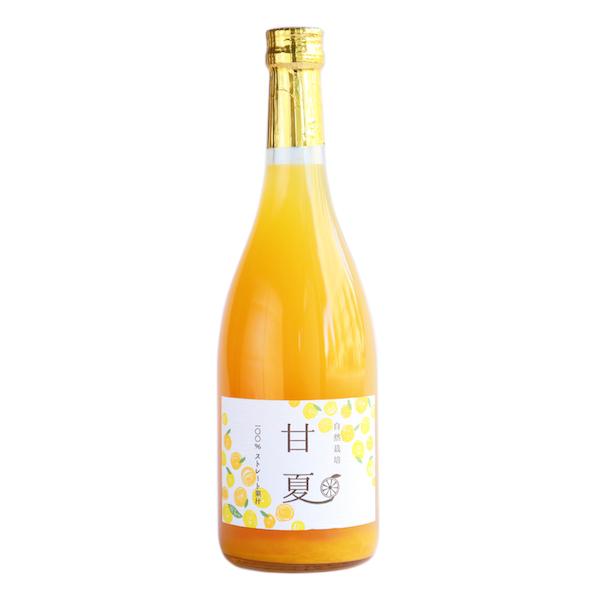甘夏ジュース 1本入り 自然栽培 720ml×1 イベファーム 和歌山県