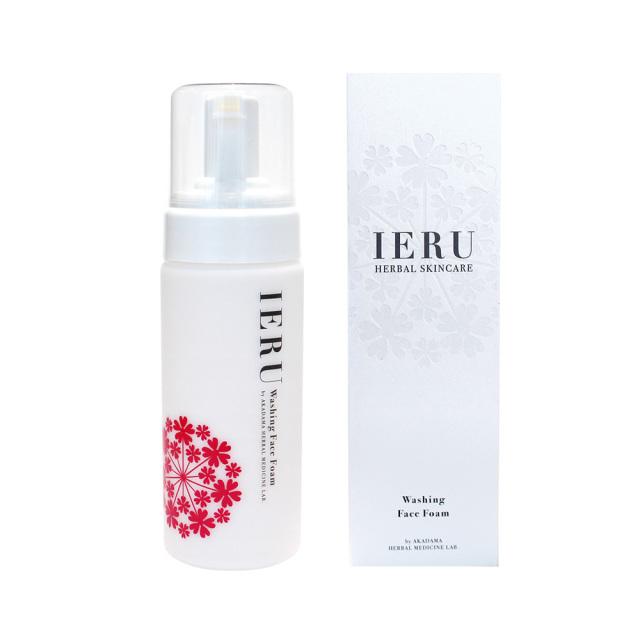※こちらの商品は予約販売となります 【フェイシャルソープ 】IERU HERBAL SKINCARE Washing Face Foam(イエル ウォッシング フェイスフォーム)