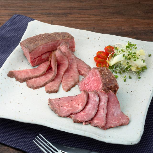 赤城牛 ローストビーフ紅白2個セット(ミスジ+赤身肉)各204g ソース付き