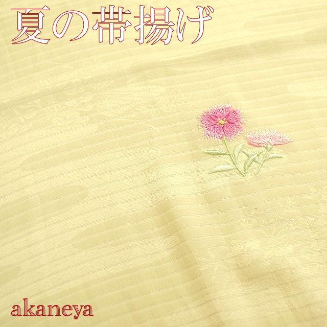夏 帯揚げ 正絹 絽 クリーム色