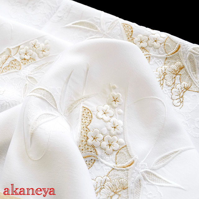 帯揚げ 留袖 唐織 UVカット 防汚 撥水