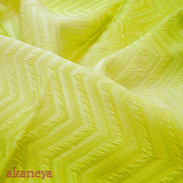 帯揚げ パステル 黄緑