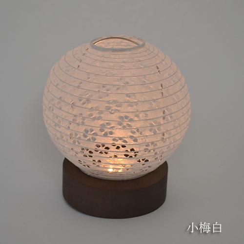 直営店限定品【日本製和紙照明】和風照明LEDミニテーブルランプ HSS-3062 電池付き