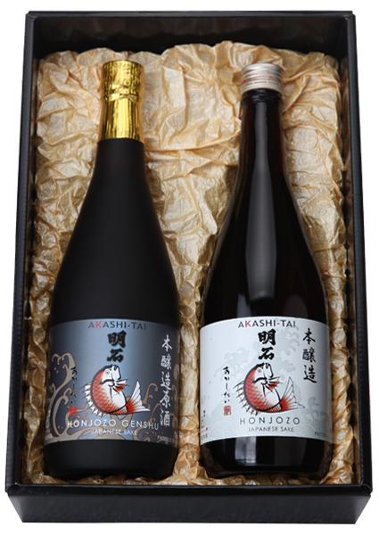 本醸造原酒 と 本醸造「明石鯛」720mlセット