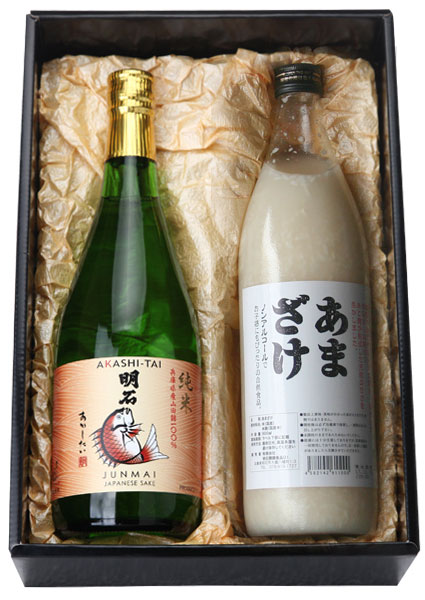 純米「明石鯛」とノンアルコール「あまざけ」セット
