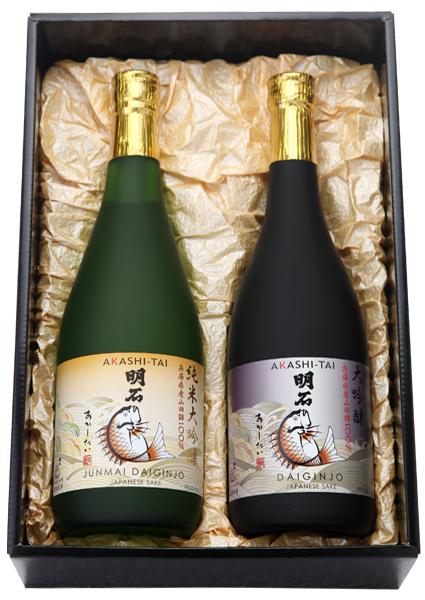 純米大吟醸純米大吟醸と大吟醸「明石鯛」720mlセット
