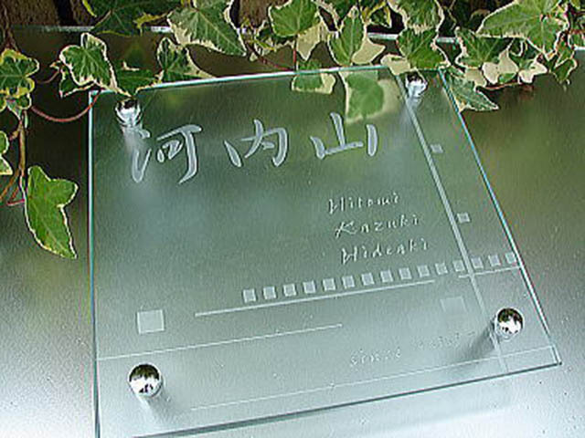 hg-12フラットガラス表札商品画像