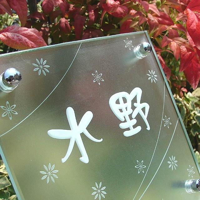hg-30フラットガラス表札商品画像