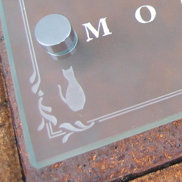 hgm-03フラットガラス表札商品画像