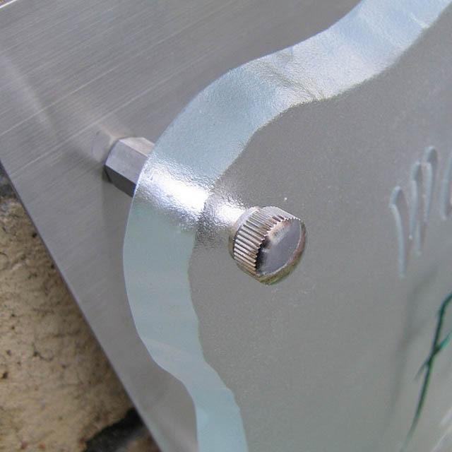 shg-04フラットガラスステンレス付き表札商品画像