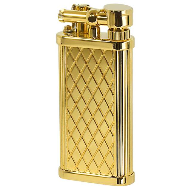 DUNHILL ダンヒル UNIQUE POCKET ユニークポケット シガレット用 Gold Plate Crosspatch Pattern ULA13013 適合リフィル(ガス or オイル)1本無料進呈