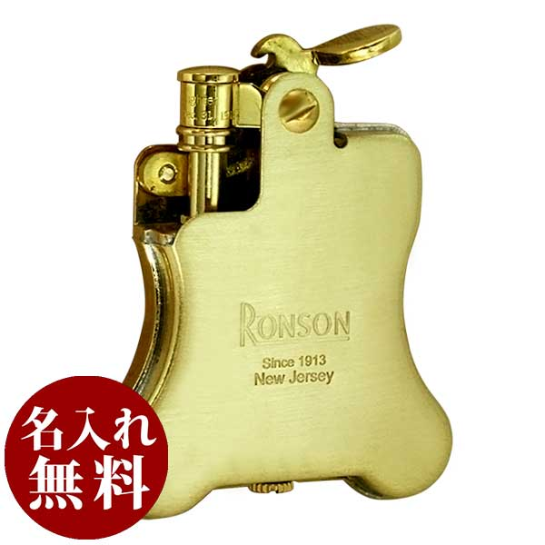 RONSON ロンソン Banjo バンジョー ブラスサテン BRASS SATIN R01-0026 適合リフィル(ガス or オイル)1本無料進呈
