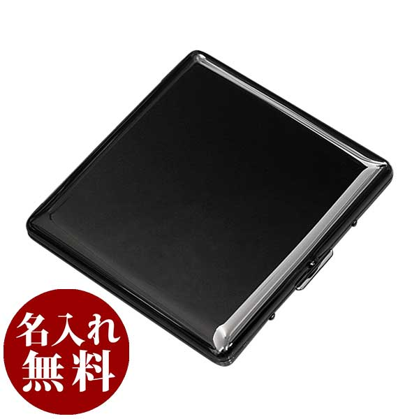 シガレットケース|カジュアルメタル10(85mm)BKニッケル|1-87307-51