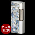 SAROME(サロメ)ライター|シルバー 白蝶貝ブルー&ホワイト SD41-16