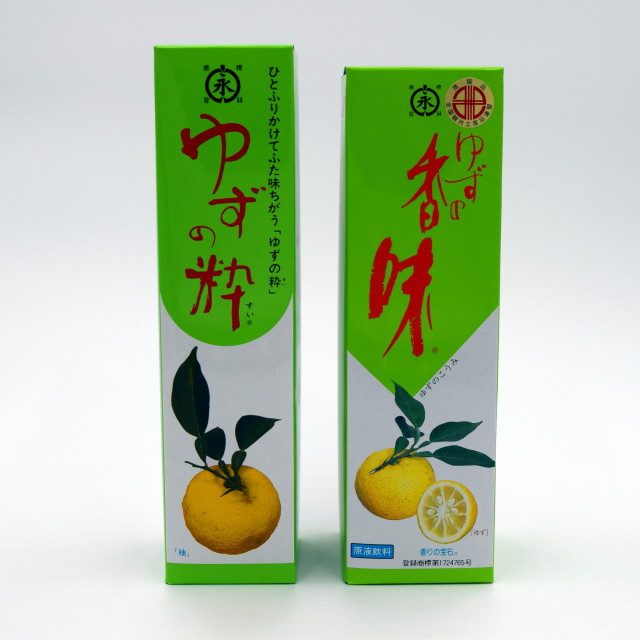 【小松柚粋園】ゆずの粋300ml・ゆずの香味500ml×各1本