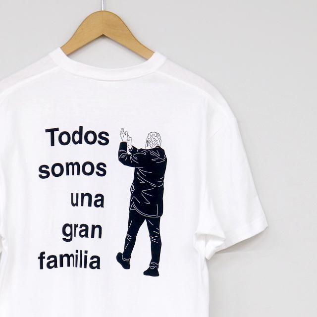 Todos somos una gran familia Tシャツ(ホワイト)