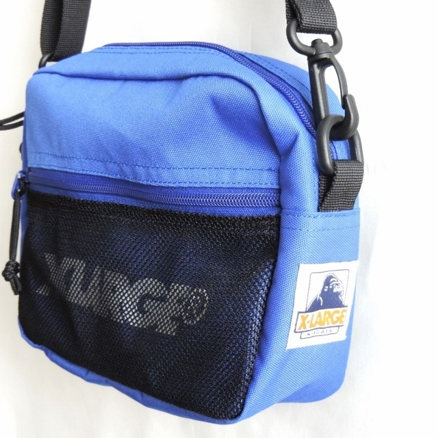 XLARGEコラボ SHOULDER BAG(ブラック/ブルー)