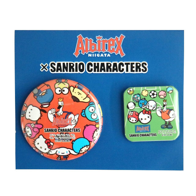 SANRIO CHARACTERSコラボ 缶バッジ(2個セット)