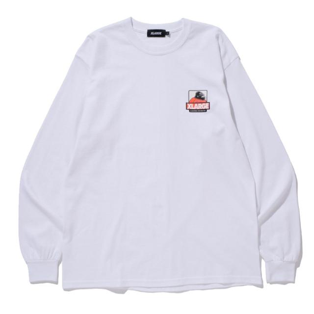 XLARGEコラボ ロングスリーブTシャツ(ホワイト)