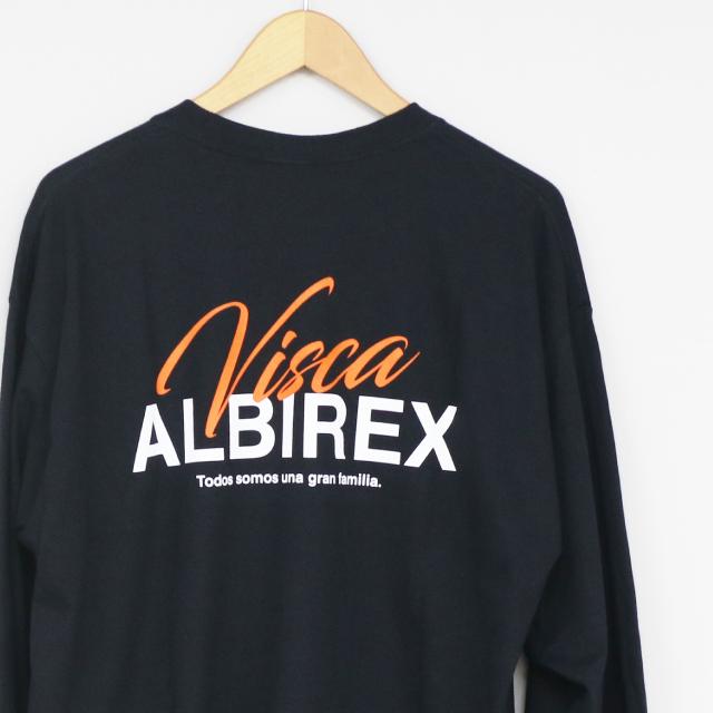 VISCA ALBIREX ロングスリーブTシャツ(ブラック/サンドカーキ)