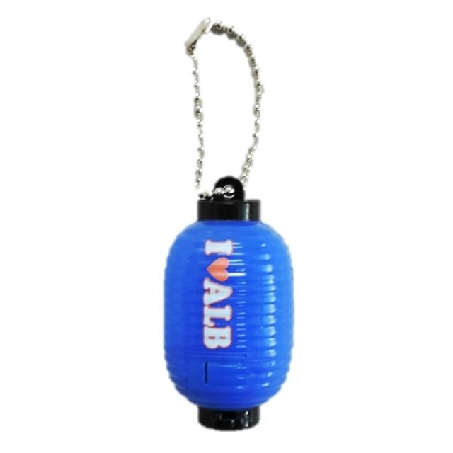 ミニ提灯ライトキーホルダー(ブルー)