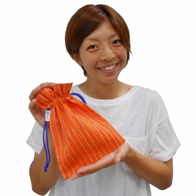 「アルビレックス新潟×小千谷縮」コラボ 巾着袋