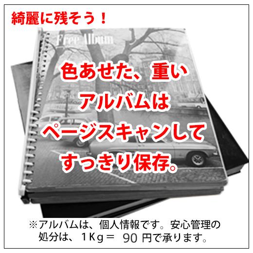台紙アルバムもページスキャン【1,000枚単位】1ページ~
