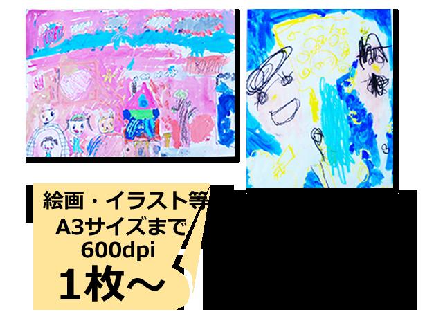 写真整理のアルバムコンシェルジュ 絵画・イラストスキャンサービス