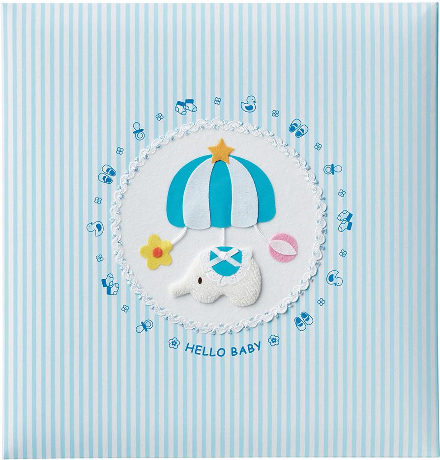 出産祝いに 名入れベビーアルバム★ナカバヤシ フエルアルバム [トイモービル ブルー](ア-LB-300-B)|