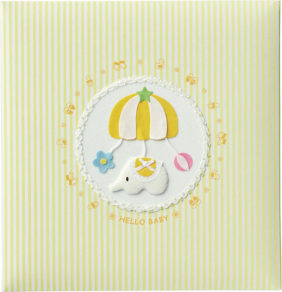 出産祝いに 名入れベビーアルバム★ナカバヤシ フエルアルバム [トイモービル イエロー](ア-LB-300-Y)|