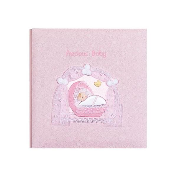 出産祝いに★名入れベビーアルバム ナカバヤシ フエルアルバム [プレシャスベビー ピンク](ア-LB-605-P) 