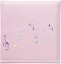 出産祝いに 名入れベビーアルバム★クリエート ベビーフォトアルバム [コンフォートミュージック・ピンク](174-050)|