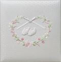 出産祝いに 名入れベビーアルバム★ナカバヤシアルバム  [ミルキーシューズ・ピンク](アH-LB-750-P)|