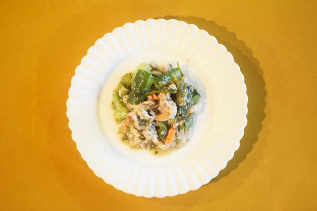 夏野菜と豚肉の回鍋肉