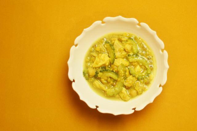 夏野菜と豆のキーマカレー