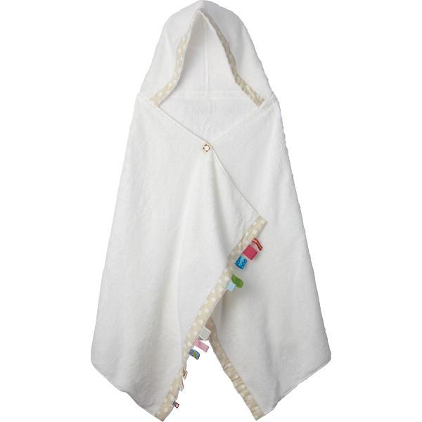《出産祝いギフト》 今治製 フード付きバスタオル(ホワイト)