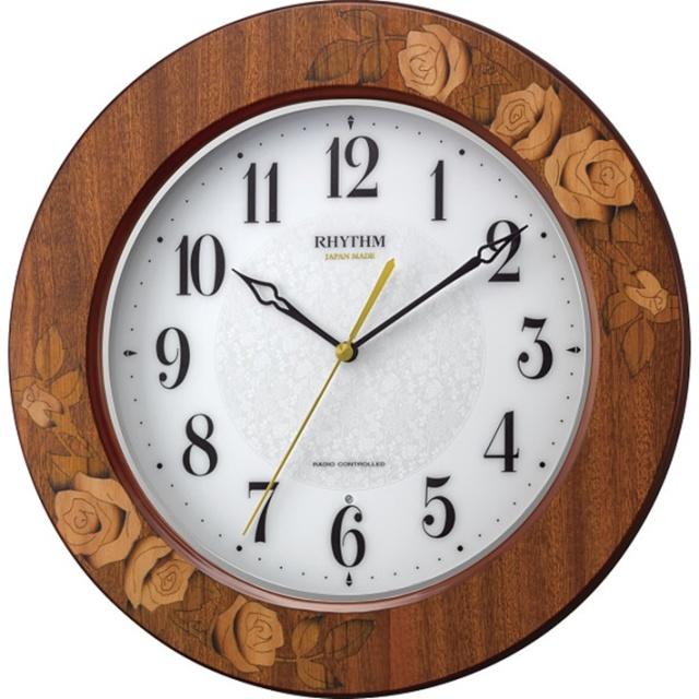 リズム 象篏枠電波掛時計