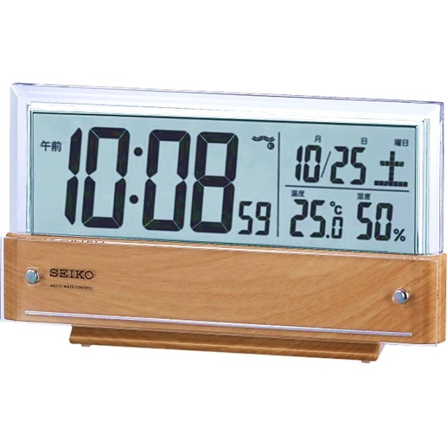 セイコー シースルー液晶電波目覚まし時計