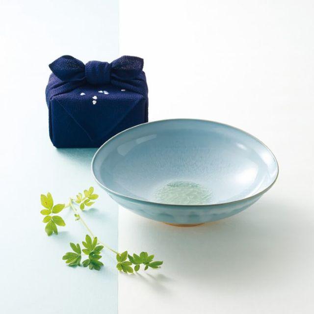 『 きらら坂 全シリーズ取扱い中 萩焼  - 萩 水芭蕉 たわみ大鉢 』