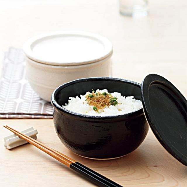 『 きらら坂全シリーズ取扱い中 伊賀焼 おひつペア(白&黒)』