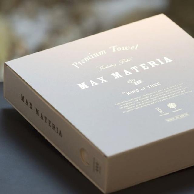 マックスマテリア 【MAX MATERIA】 BOX_Whiteシリーズ HIBRID タオル BOX フェイスタオル