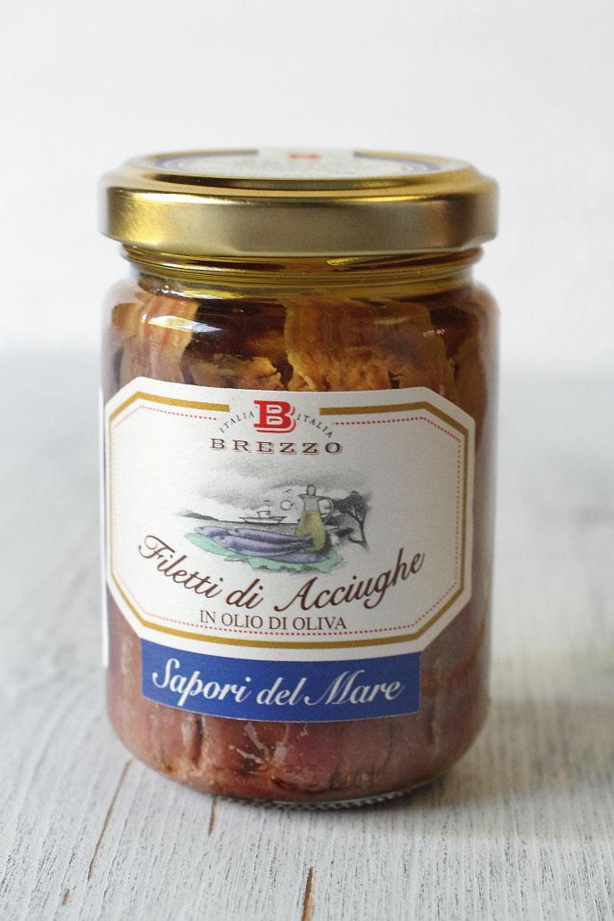 アンチョビ・フィレ オリーブオイル漬 ブレッツォ社 イタリア産 (Italian Anchovy in olive oile by Brezzo) 商品
