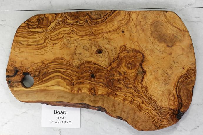 カッティングボード No.6 アルテレニョ社 イタリア製 (Italian Cutting Board made by Arte Legno Olive Wood) 商品