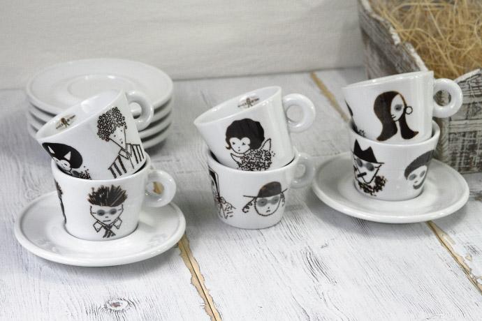 コーヒーカップ&ソーサーのセット オリビエロ・トスカーニ (Oliviero Toscani) デザイン ミシェラドーロ社 イタリア産 商品