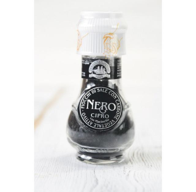 ミル付 黒の塩 炭塩 ドロゲリア アリメンターレ社 キプロス産 (Cyprus Black Salt with Mill by DROGHERIA & ALIMENTARI) 商品