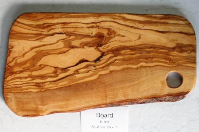 カッティングボード No.1 アルテレニョ社 イタリア製 (Italian Cutting Board made by Arte Legno Olive Wood) 商品