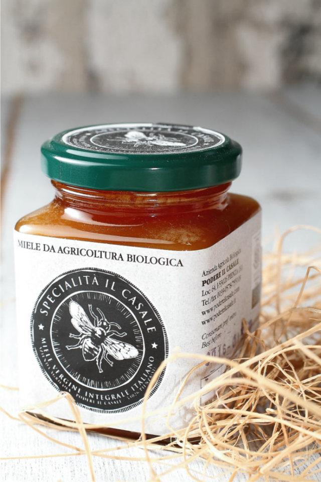 ハチミツ・ボスコ (森の樹液の蜂蜜) ポデーレ・イル・カッサーレ社 イタリア産 (Italian honey Bosco by Podere il casale) 商品