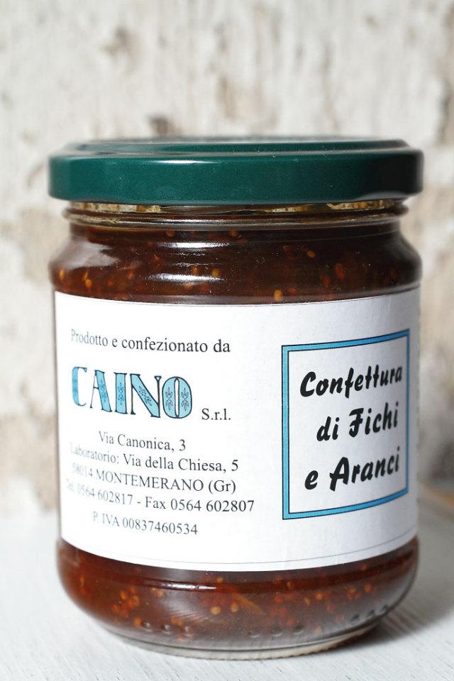 イチジク & オレンジ ジャム カイーノ社 イタリア産 (Italian Figs & Orange jam by Caino) 商品